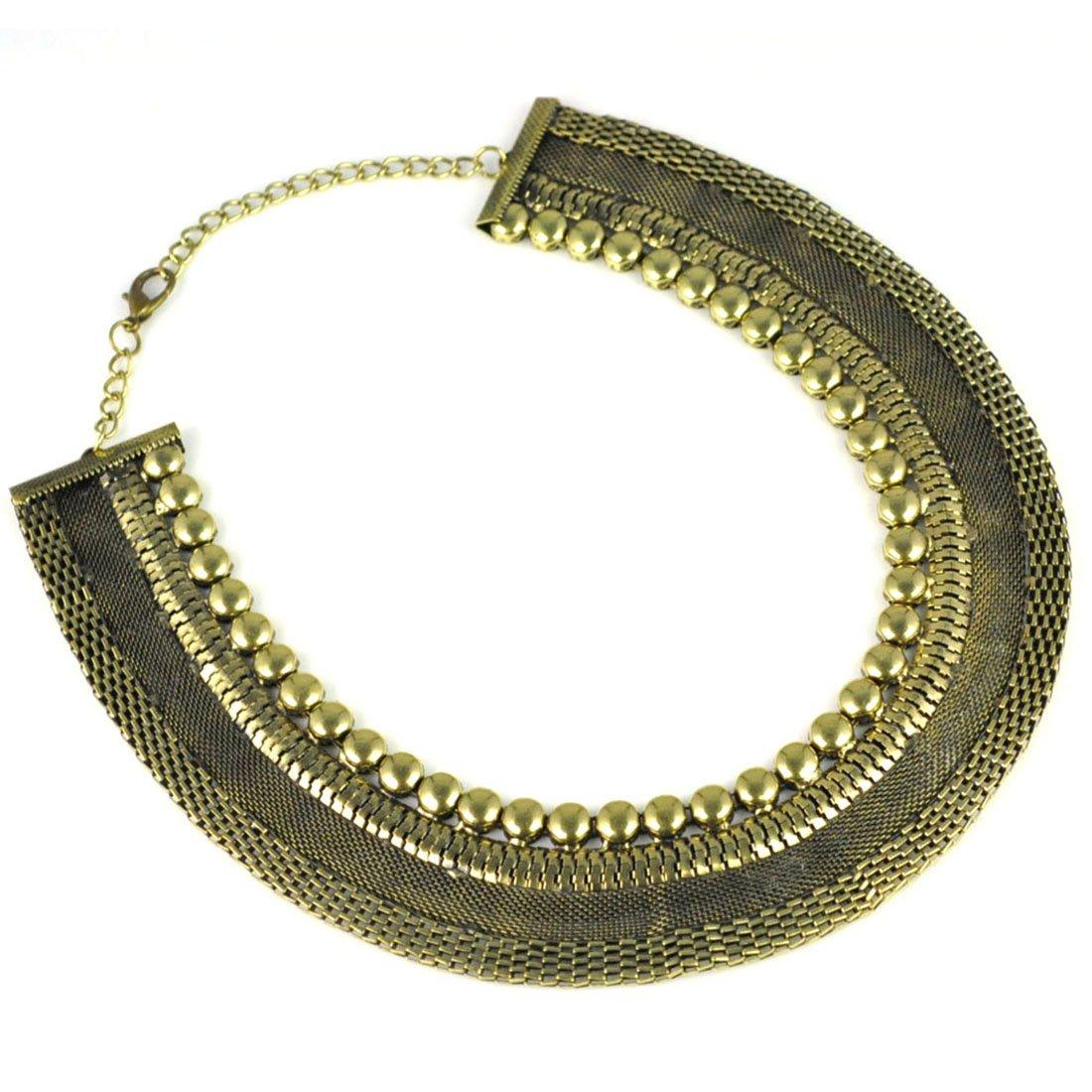 Huan Xun Vintage Egyptian Style Oversized Choker Necklace