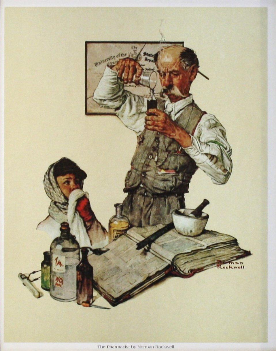 Amazon The Pharmacist Norman Rockwell 12x15 Unframed Art