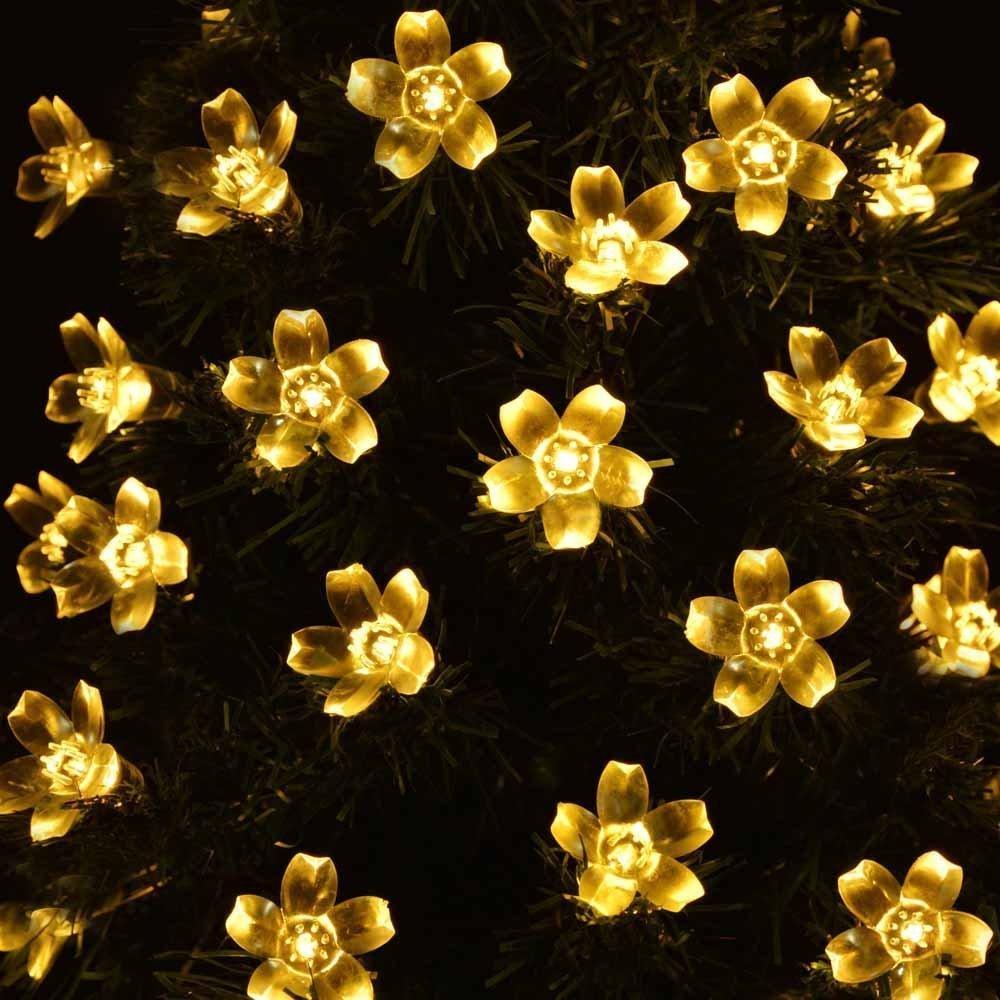 Pavillon Beleuchtung f/ür Haus 5m 50 LED 8 Modi Zaun Yasolote Hochzeit Deko Warmwei/ß Hof Balkon Terrasse Wasserdicht Blumen LED Au/ßenlichterkette Garten Solar Lichterkette Au/ßen Rasen