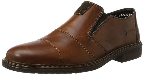 13462 - Zapatillas de casa de cuero hombre, color marrón, talla 42 Rieker