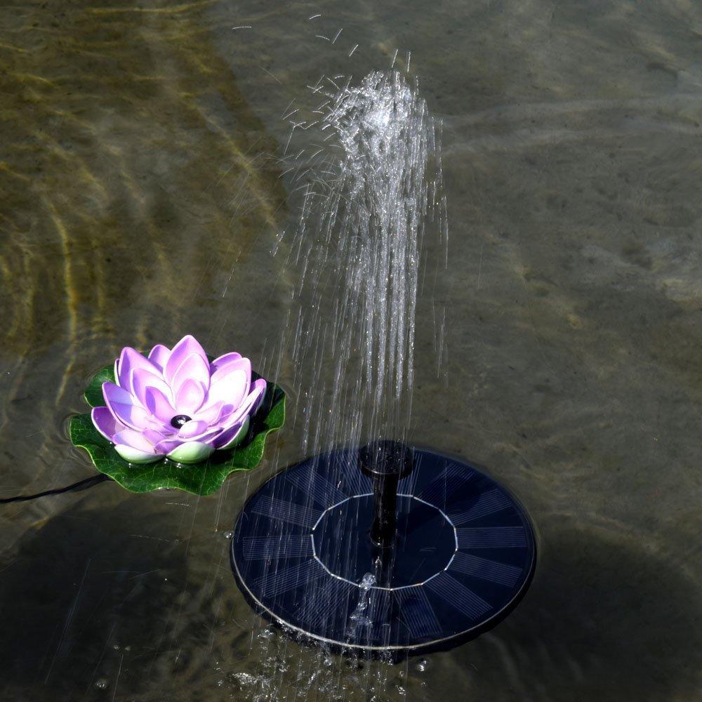 Samtlan Fontaine Solaire Pompe /à Eau Flottante Jardin Autoportant pour Baignoire doiseaux R/éservoir de Poissons Petit /étang D/écoration de Jardin Noir