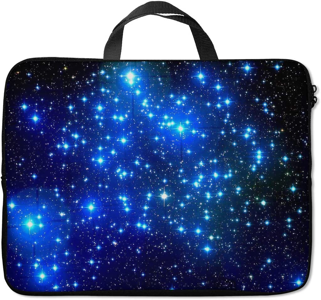 Britimes Laptop Sleeve Case Protection Bag Waterproof Neoprene PC Cover Water Resistant Notebook Handle Carrying Computer Protector Abstract Stars Dark Blue 14 15 15.6 inches