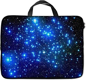 Britimes Laptop Sleeve Case Protection Bag Waterproof Neoprene PC Cover Water Resistant Notebook Handle Carrying Computer Protector Abstract Stars Dark Blue 11 12 13 inches