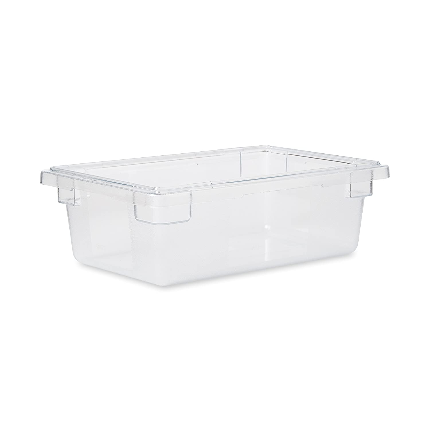 Rubbermaid Commercial Products Food Storage Box/Tote for Restaurant/Kitchen/Cafeteria, 3.5 Gallon, Clear (FG330900CLR)