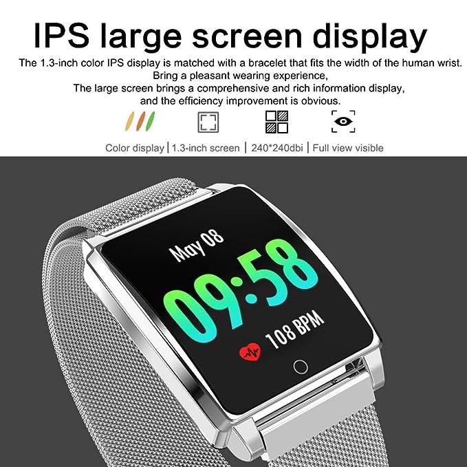 Amazon.com: Star_wuvi Heart Rate Activity Step Counter Calorie Plating Smart Bracet for Kids Women Men: Watches