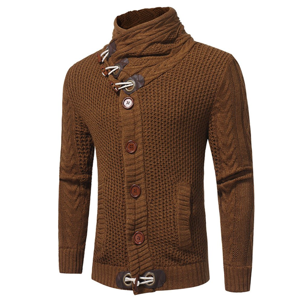 Theshy Men Autumn Winter Casual Cardigan Sweater Coat Knitting Sweater Coats