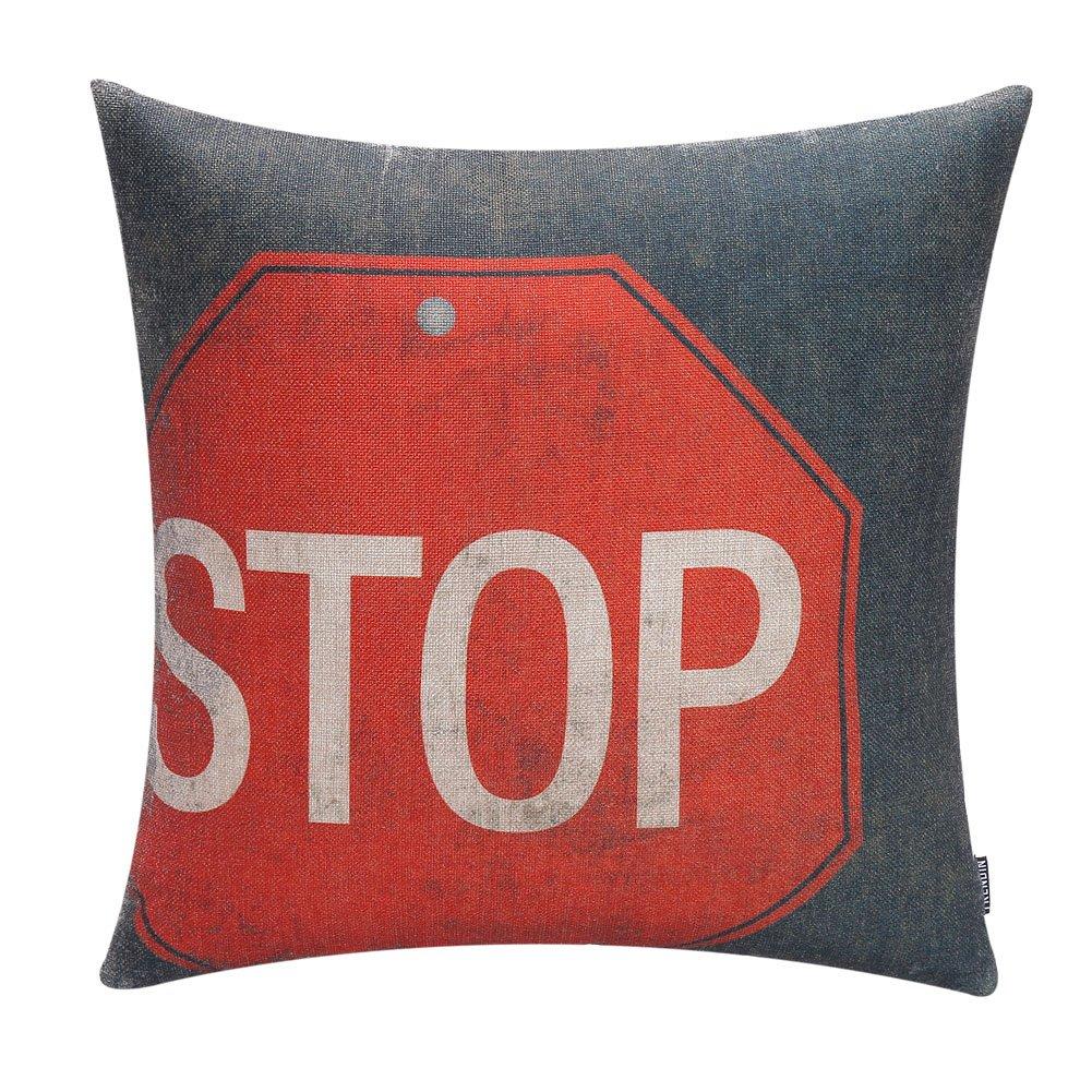 """18/"""" Vintage Car Linen Cotton Pillowcase Throw Cushion Cover Home Decor"""