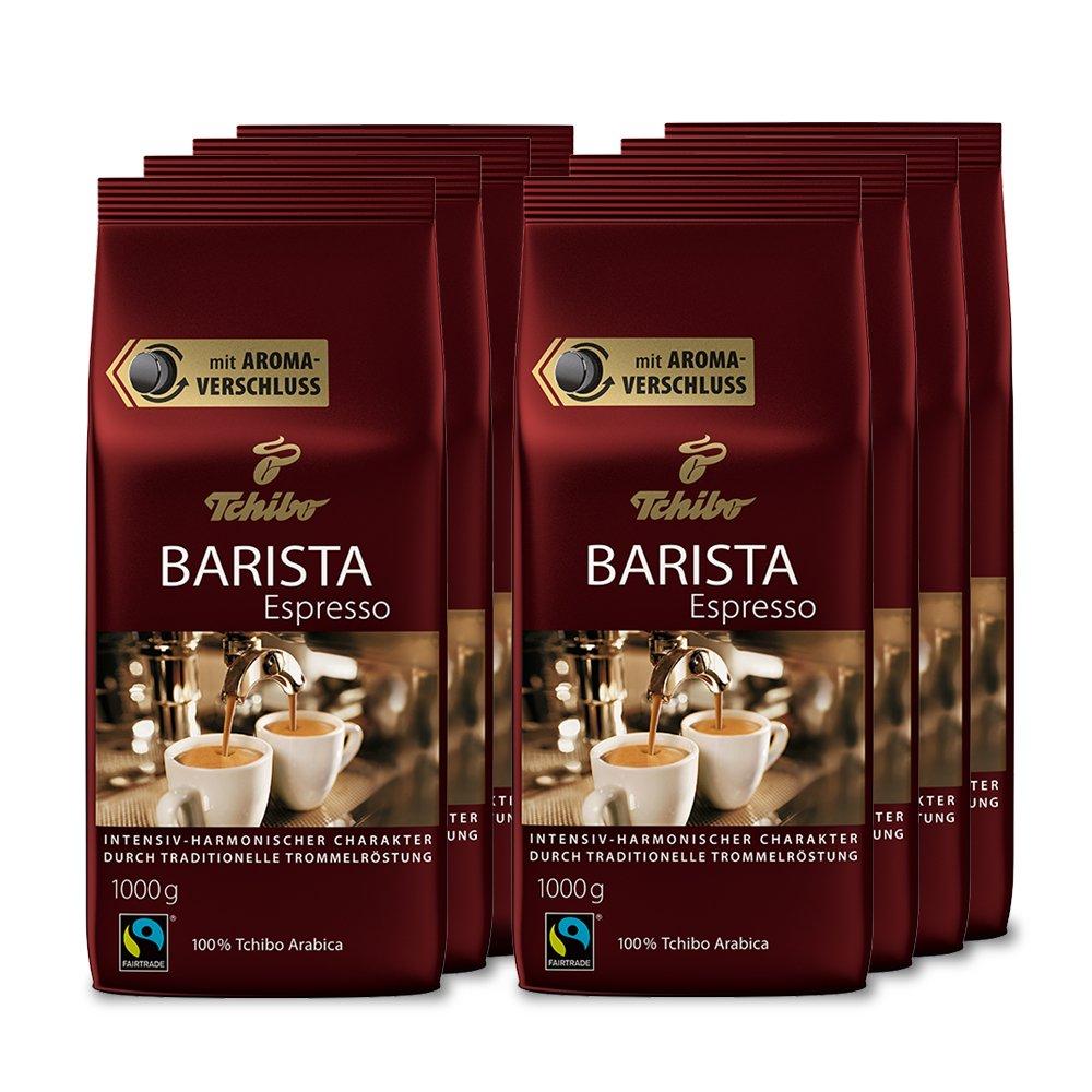 Tchibo Barista Espresso 8Kg ganze Bohne - Kaffee-Genuss für ...