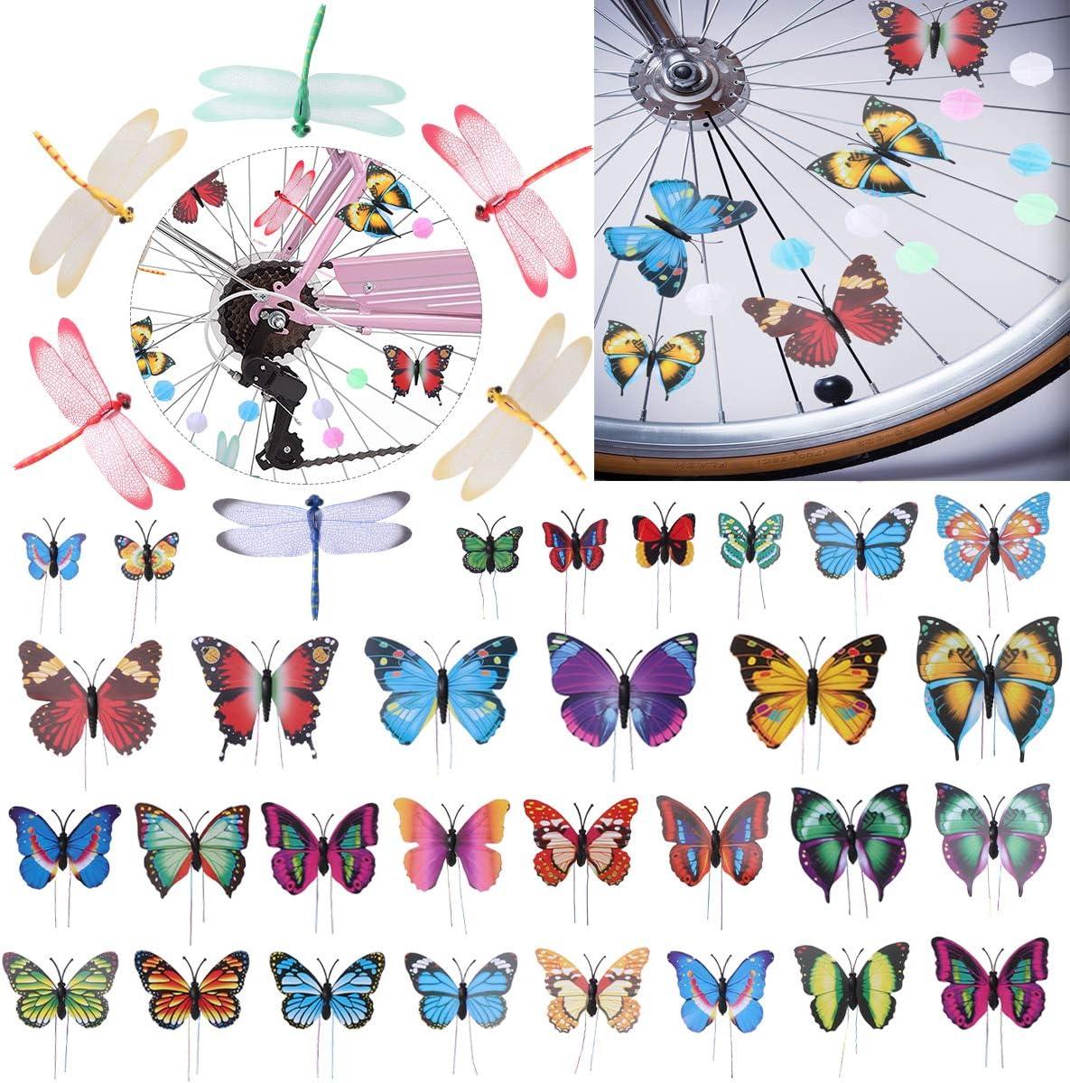 105 pcs Rectangle Bead Assorted Colors Bike Bicycle Wheel Spokes Luminous Plastic Clip Bead//Spoke Decorations