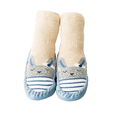 Calcetines para Bebés Niña Niño Anti Deslizante Zapatillas Primera Infancia: Amazon.es: Ropa y accesorios