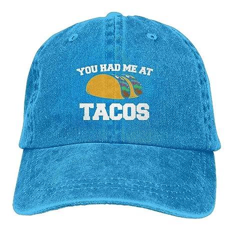 kslae Gorras Grandes You Had Me en Tacos Unisex Adulto Jeans ...