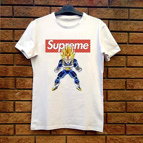 b6cf05ca2048 Amazon.com: Supreme vs Gucci Vegeta - Dragon Ball Z Fan Gift T-Shirt White:  Handmade