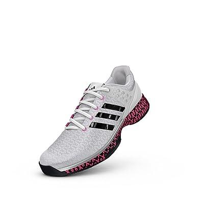 Amazon.com | adidas Women's Adizero Ubersonic 2 W Think PI Tennis Shoe, White/Black/Shock Pink, 7.5 M US | Tennis & Racquet Sports