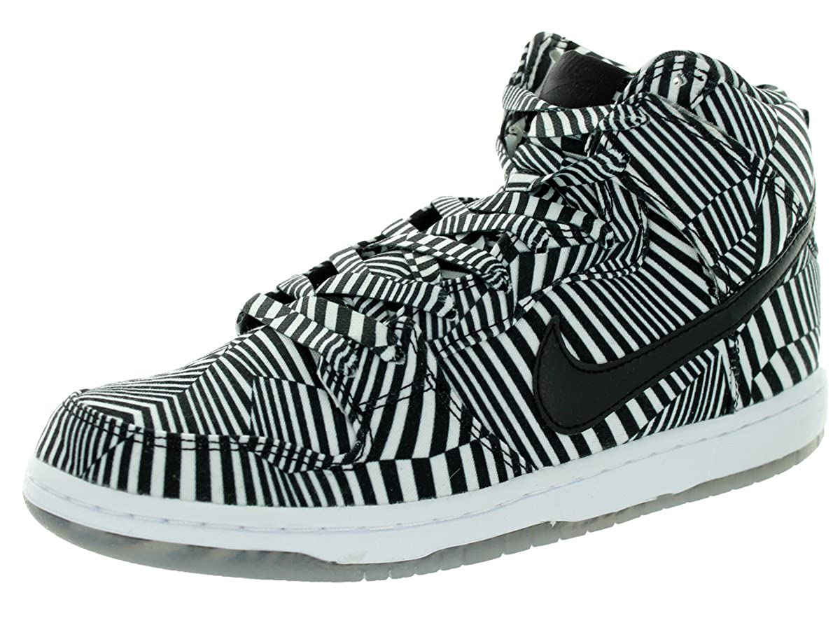 blanco negro Dunk Alto Premium Sb blanco   negro del patín del zapato 6 con nosotros