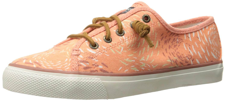 Sperry Top-Sider Women's Seacoast Fish Circle Fashion Sneaker B01015M1QO 6.5 B(M) US|Coral