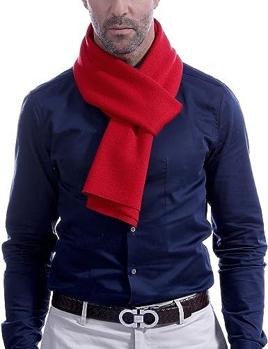 Men's Scarf Cashemre Scarves for Men Long Winter Knit Neckwear 70.8IN  11.8IN Vextrofort (Red): Amazon.co.uk: Clothing