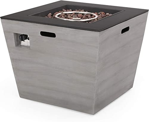 GDF Studio Janet Outdoor Modern 30-Inch Square Fire Pit
