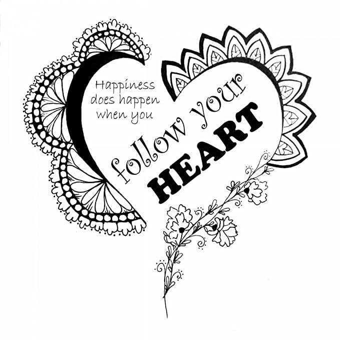 Amazon Follow Your Heart Poster Print By Debbie Pearson 12 X