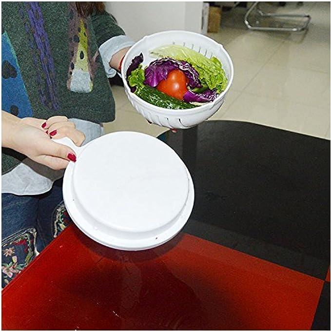 Tribangke - Bol cortador de ensalada. Magic Salad Maker. Corte verduras y frutas frescas en 60 segundos: Amazon.es: Hogar