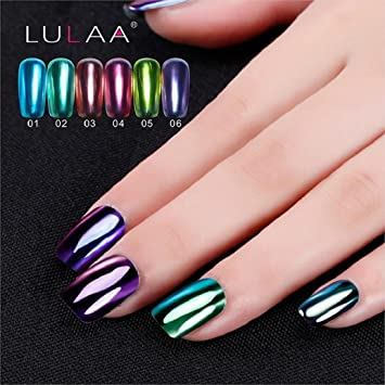 Amazon.com : Hot Nail Art! AMA(TM) Mirror Effect Nail Polish Plating ...