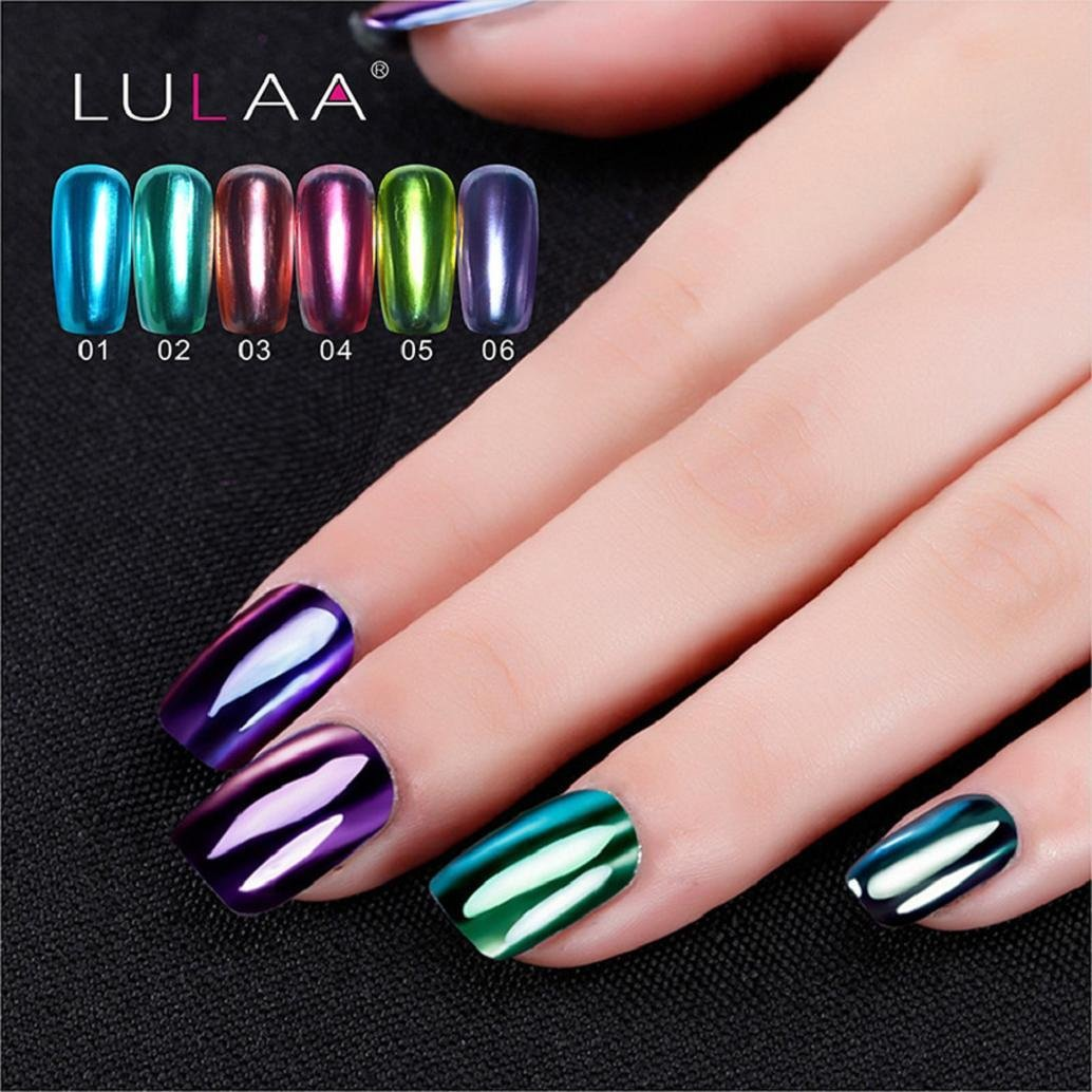 Amazon.com : Hot Nail Art! AMA(TM) Mirror Effect Nail Polish Plating ...