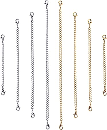 Bracelet Extender chain extender with tag Necklace Extender Stainless Steel Extension Chain