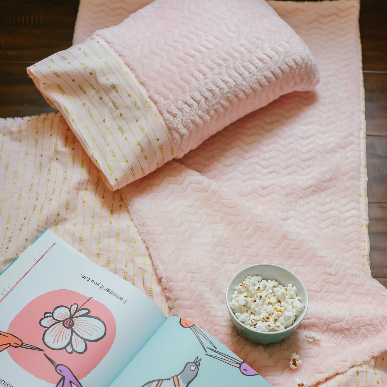 Pink Nap Mat for Toddler Girls Kindermat Cover for Daycare Preschool Arrow
