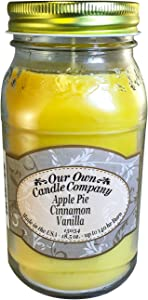 Our Own Candle Company Apple Pie Cinnamon Vanilla Scented Mason Jar Candle, 18 Ounce