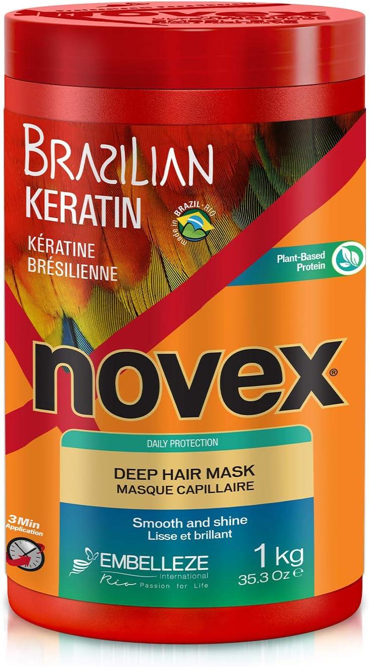 Novex Brazilian Keratin, Mascarilla Queratina brasileña, 1 kg