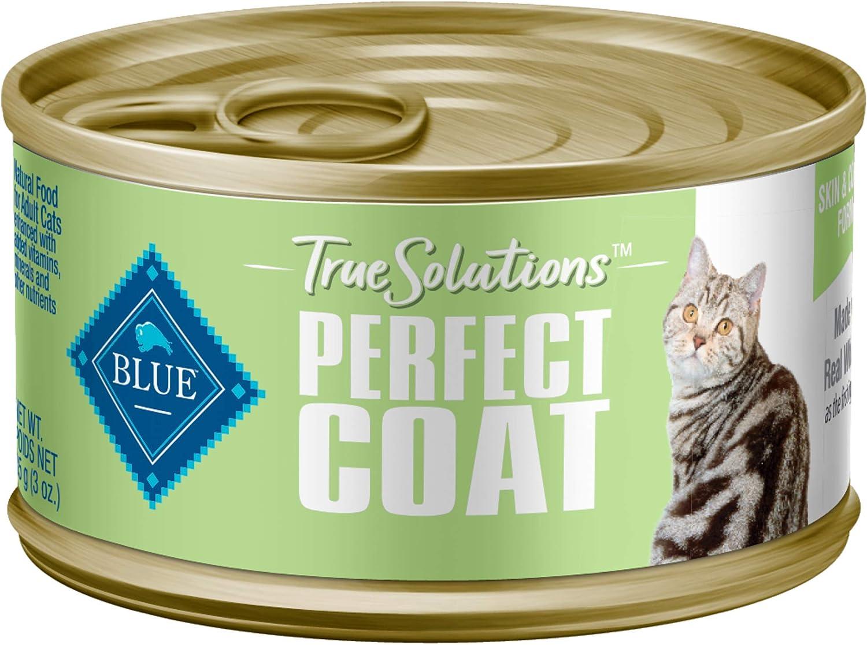 Blue Buffalo True Solutions Perfect Coat Natural Skin & Coat Care Adult Dry Cat Food and Wet Cat Food