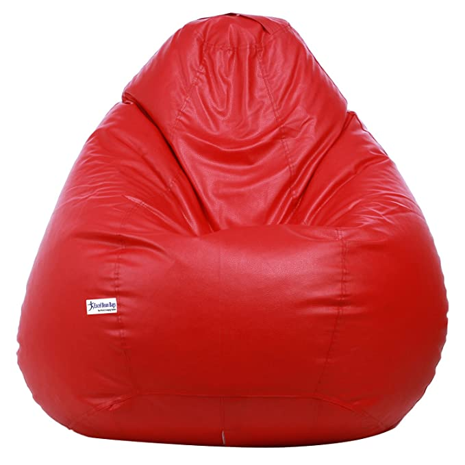 Classic Bean Bag Cover without beans - XXXL Size - Red Colour Bean Bag Covers at amazon