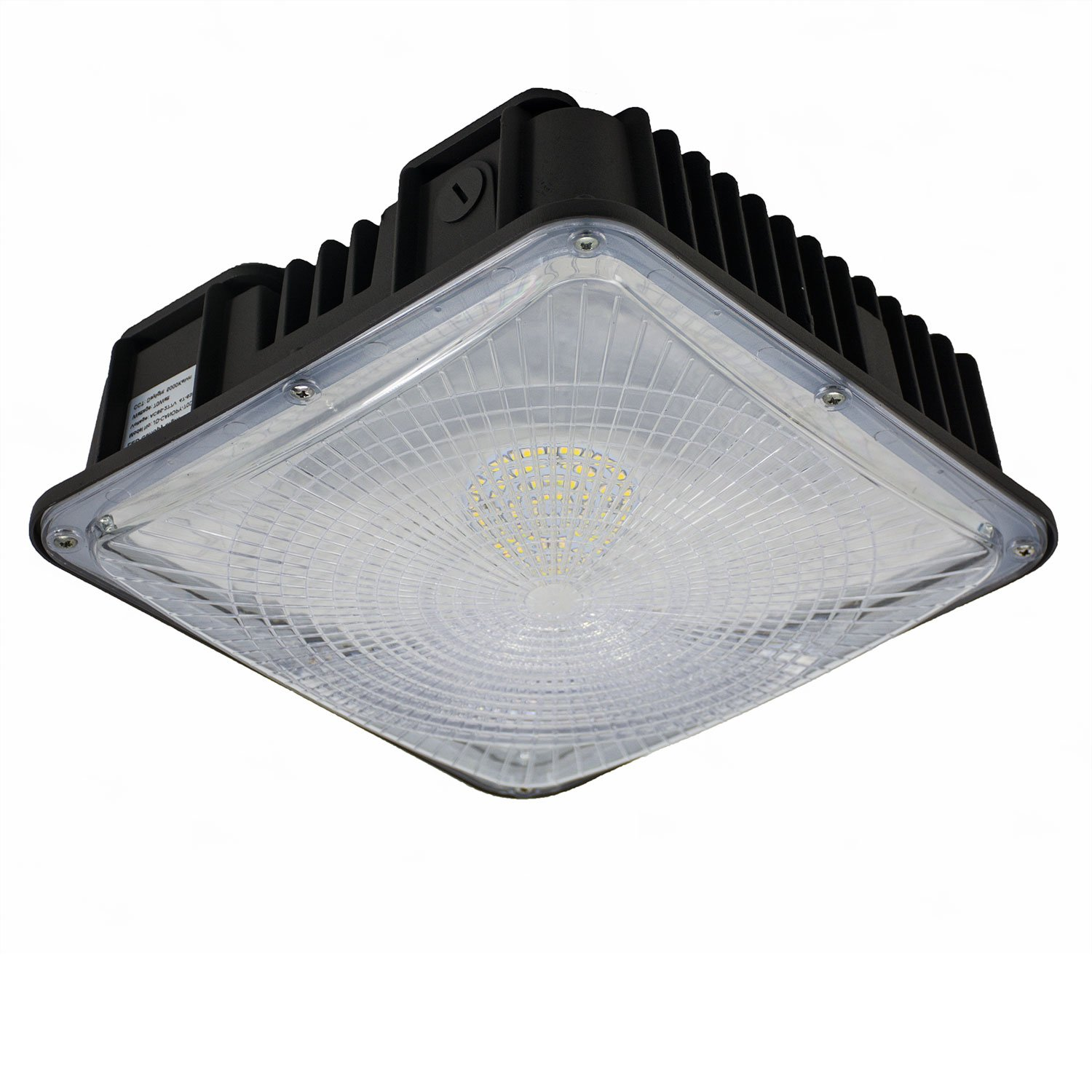 LED Canopy Lights for Gas Station, JESLED Outdoor Waterproof LED Canopy Lighting Fixture, 45W/50W 5000K Daylight White 6000LM (150W-250W HID/MH Replacement), Warehouse Garage Workshop Ceiling Lamp