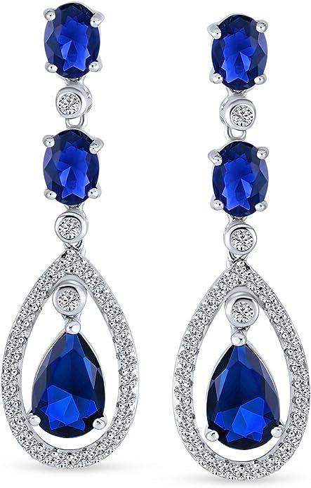 STERLING 925 Vintage Art Deco Clip On Earrings Arc design  CZ sparkling Earrings st781