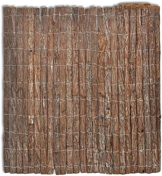 Festnight Valla de Corteza Valla Jardin Decorativa para Dividir Las Partes del Jardín o para Destacar una Vía o Camino de Entrada 400 x 100 cm: Amazon.es: Hogar
