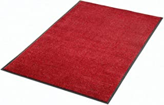 "product image for Apache Mills Plush Super Absorbent Mat, 36""W X 60""L, Red-Black"