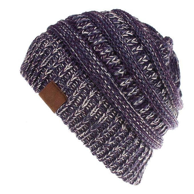 c4c7d2820baac Winter Ponytail Soft Knitted Hat Super Warm Hat Beanie Cap for Women Girl s  Keep Warm Crochet