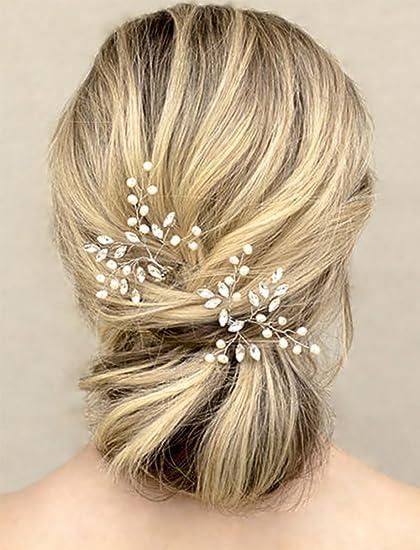 Amazon.com: Unicra Wedding Hair Pins Hair Set Jewelry Decorative ...