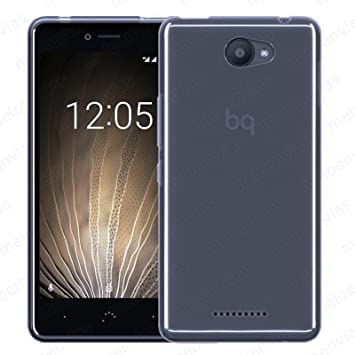Meloenvias Funda Carcasa para BQ AQUARIS U/U Lite Gel TPU Lisa Color Transparente
