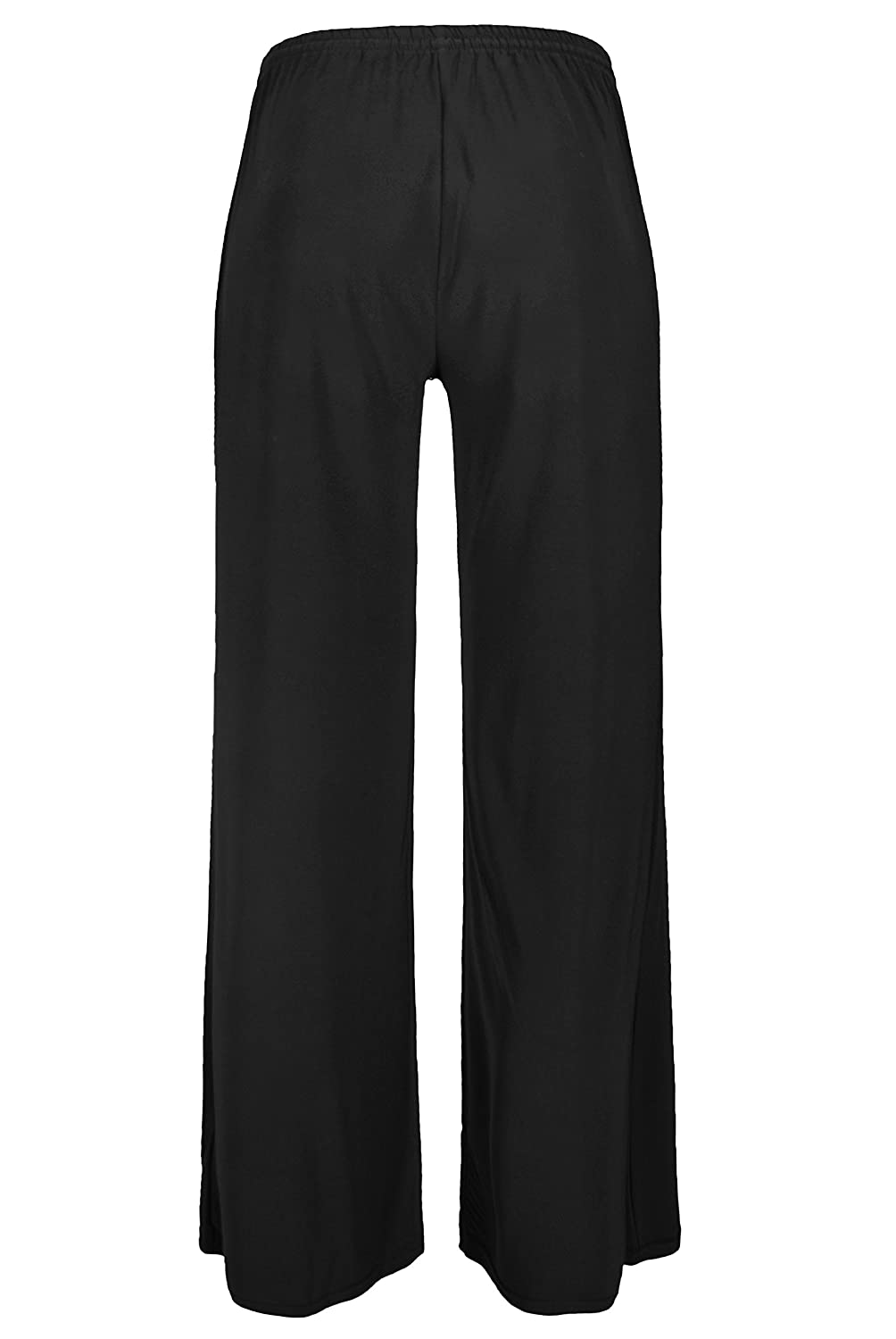 1e6f5fe8b893f Plus Size Ladies Womens Palazzo Trousers Flared Loose Wide Leg Pants in Navy  Or Black Sizes 10-26  Amazon.co.uk  Clothing