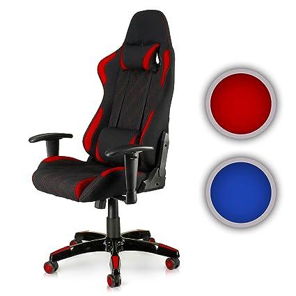 MY SIT Silla de Oficina Silla de Escritorio Gaming Racing Reposabrazos Giratoria de PU diseño Blue Racer