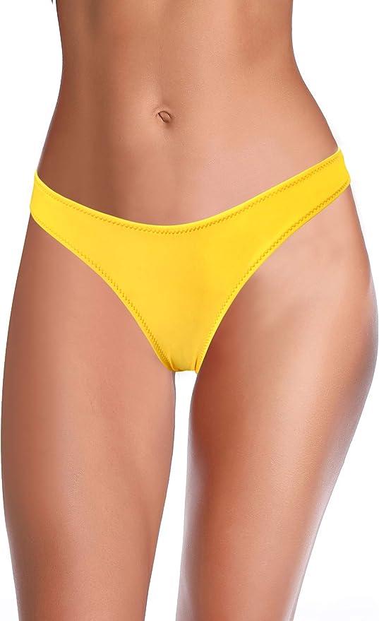 SHEKINI Women/'s Bikini Bottom Slide Brazilian Teeny Tanga Thong Low Rise String Swimsuit Briefs