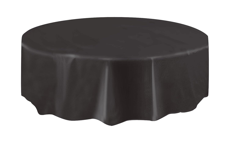 Design Black Tablecloth amazon com round black plastic tablecloth 84 kitchen dining
