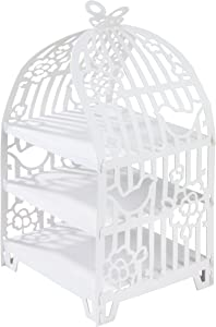 Talking Tables White Cake Stand Birdcage Centrepiece | Great For Tea Party, Birthday Party, Baby Shower, Wedding And Anniversary | Paper