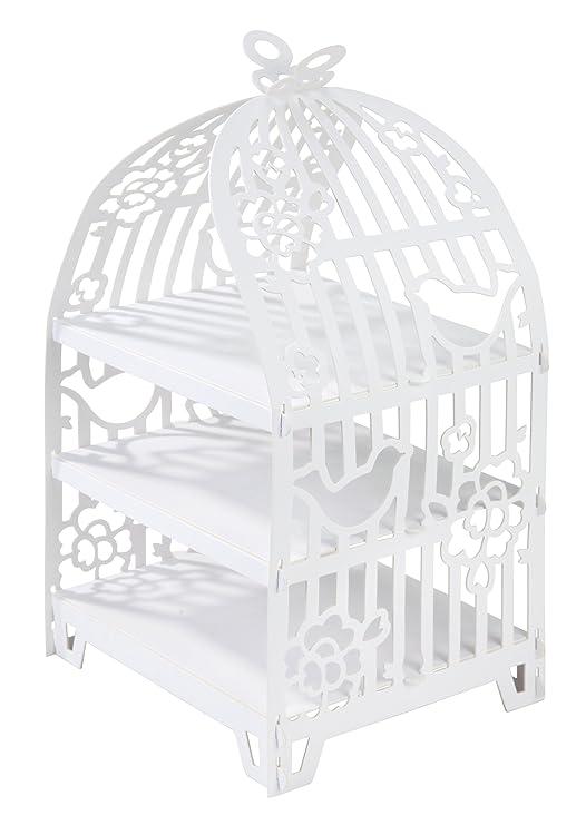 Talking Tables soporte de pasteles blanco en forma de jaula ...