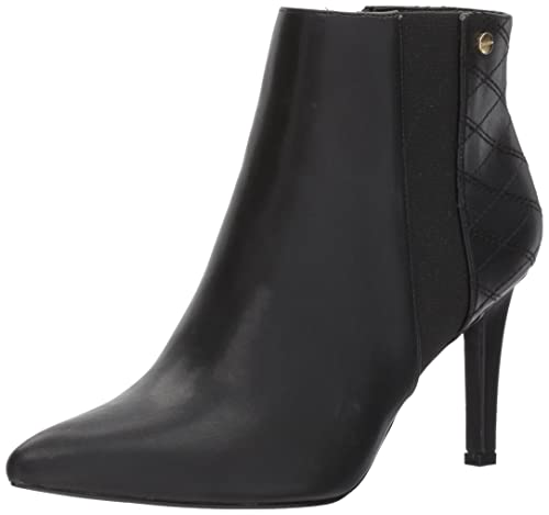 Calvin Klein Women's Bestie Ankle Boot, Black, 9 Medium US best comfortable women's dressy heels