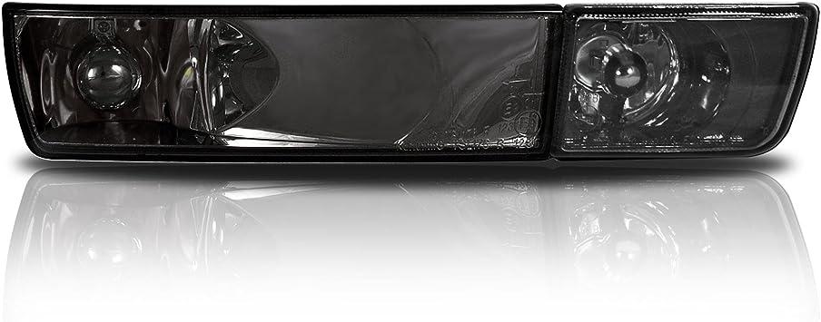 Luz para niebla 2 x cristal transparente intermitente delantero faros antiniebla negro ahumado izquierda derecha