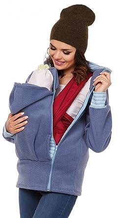 Zeta Ville - Maternité Pull molletonné bébé écharpe de Portage - Femme -  032c (Bleu a633dfc4542