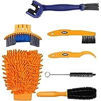 Cleaning Tool Set 7 stuks Clean Brush Kit voor fietsketting, banden/kiemfietsen, hoekvlekken, vuil, geschikt voor…