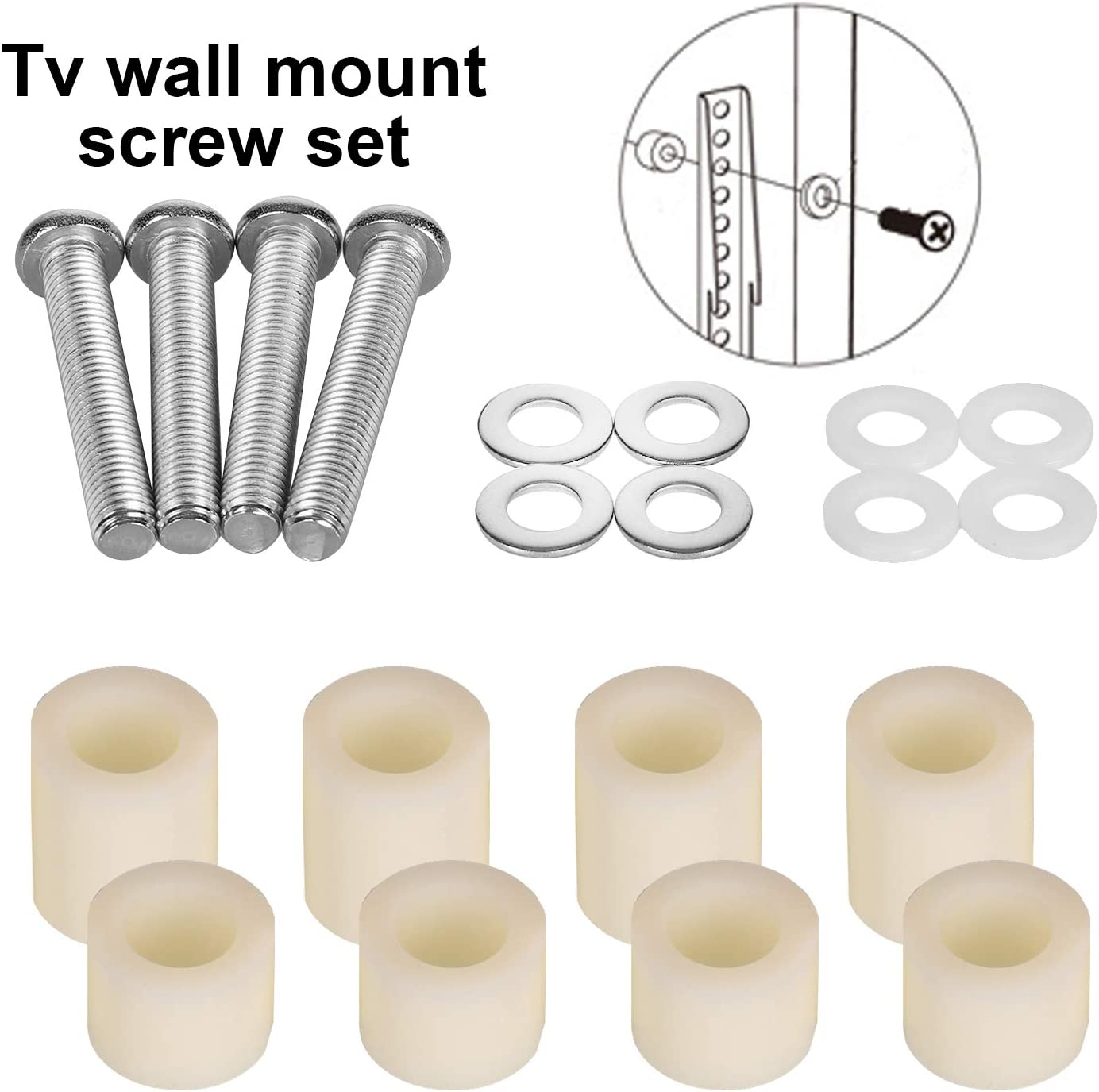 Extra Long M8x45mm TV Wall Mount Bracket to Large TV Bolts • With 25mm Long