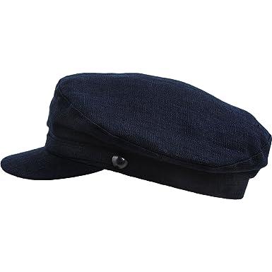 d8779652906 Sterkowski Men s Summer Linen Breton Fisherman Cap UK 6 5 8 Navy Blue